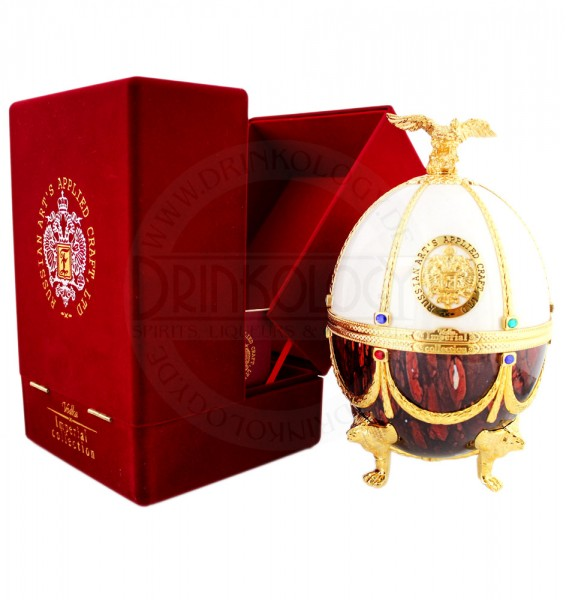 Imperial Collection Vodka Faberge Egg Ruby White