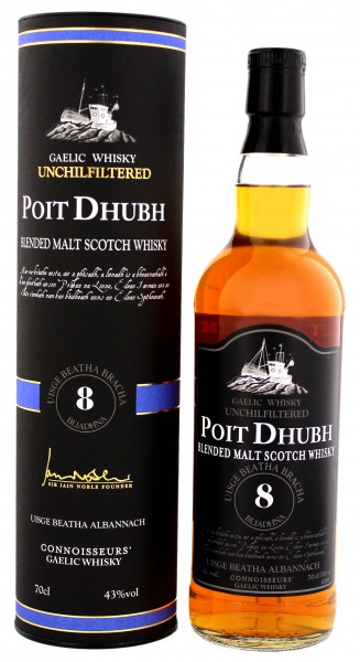 Poit Dhubh Malt Whisky 8 Years Old