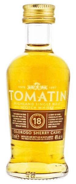 Tomatin Single Malt Whisky 18 Years Old Miniature 0,05L 46%