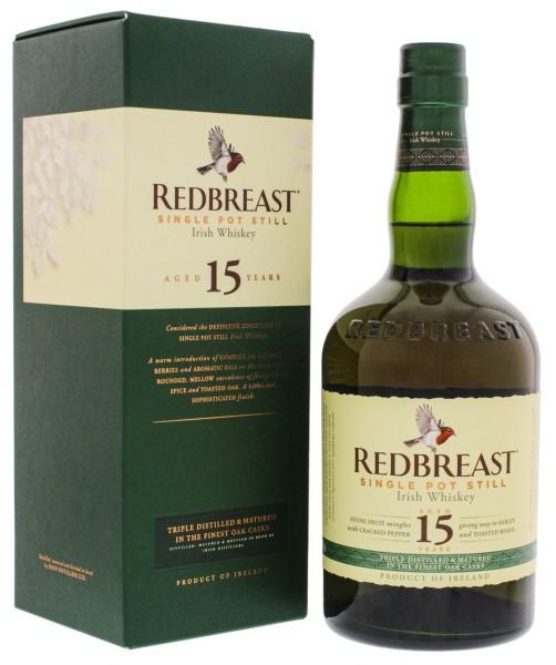 Redbreast Irish Whiskey 15 Jahre, 0,7L 46%