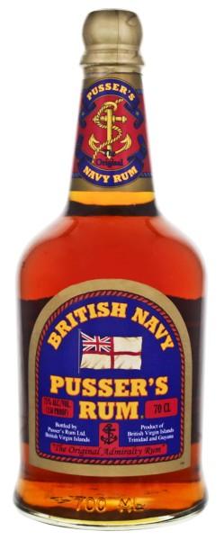 Pusser's British Navy Overproof Rum, 0,7 L, 75%