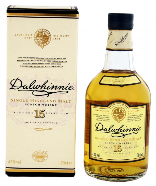 Dalwhinnie Single Malt Whisky 15 Years Old, 0,2L, 43%