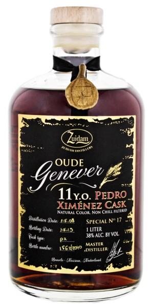Zuidam Oude Genever 11 Jahre 2008/2019 Pedro Ximenez Special Cask No 17 1,0L 38%