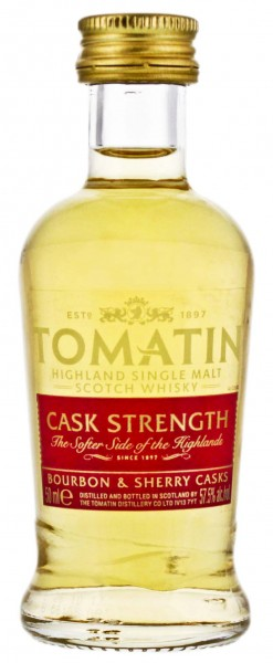 Tomatin Single Malt Whisky Cask Strength Miniatur 0,05L 57,5%