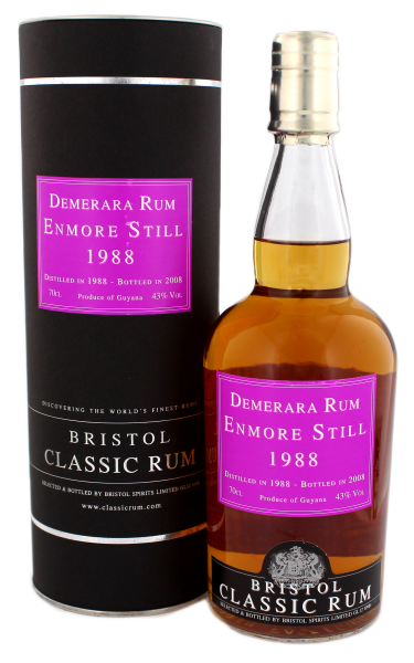 Bristol Enmore Still Guyana Rum Vintage 1988, 0,7 L, 43%
