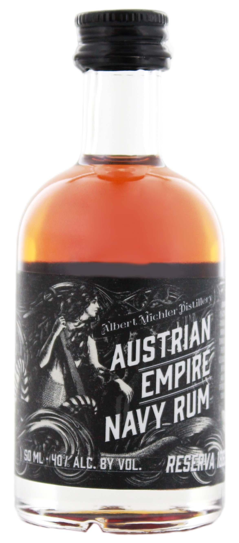 austrian empire navy rum reserve 1863 miniatur jetzt kaufen im drinkology online shop. Black Bedroom Furniture Sets. Home Design Ideas