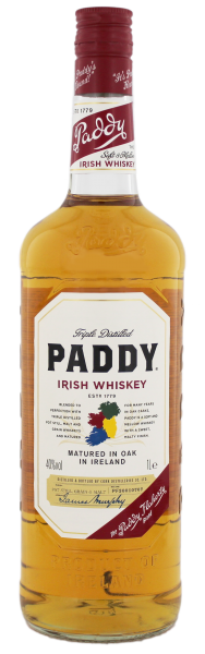 Paddy Irish Whisky, 1 L, 40%