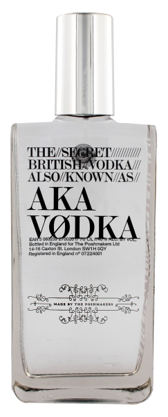 AKA The Secret British Vodka 0,7 Ltr 40%