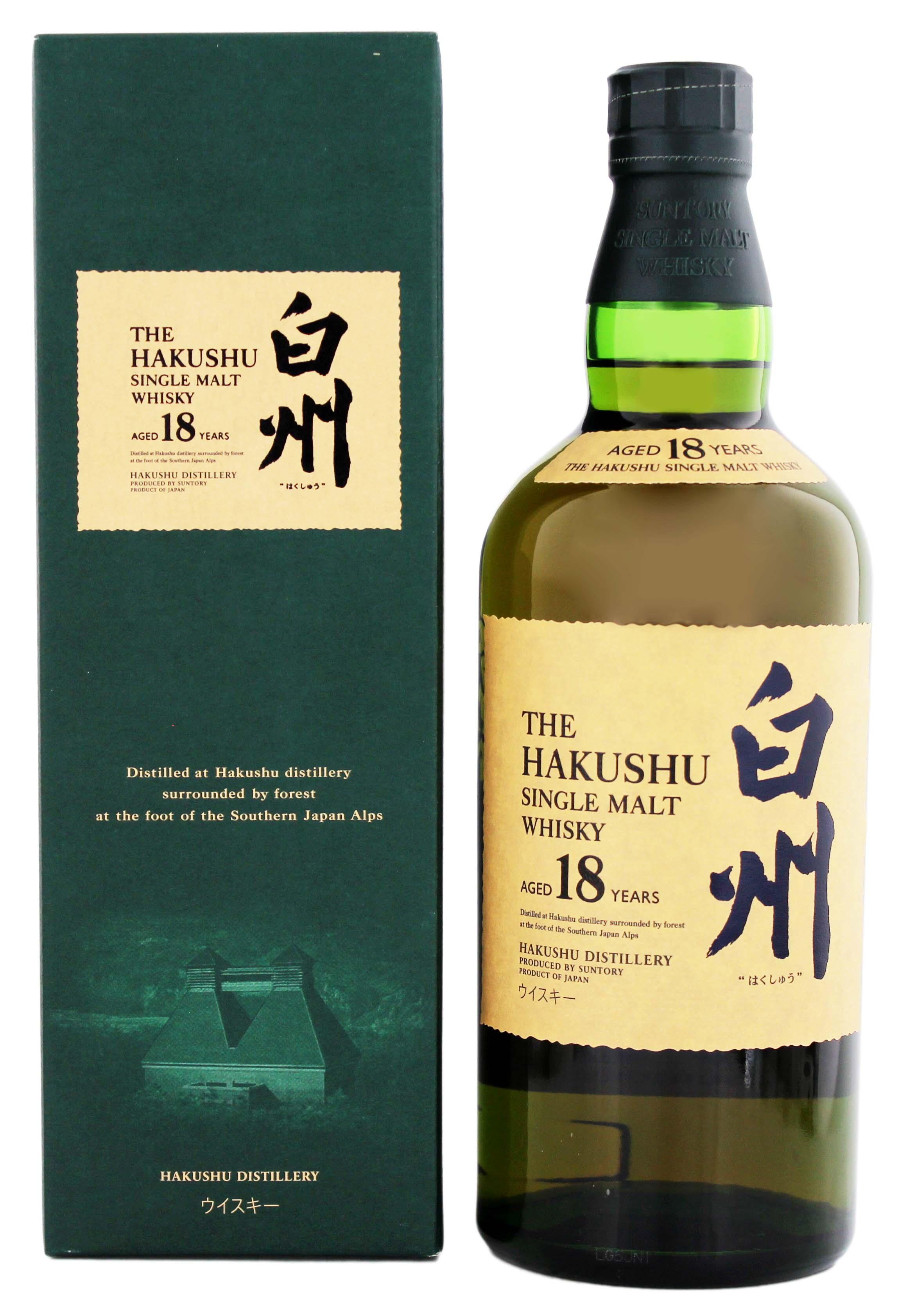 Hakushu Japanese Single Malt Whiskey 18 Jahre 0,7L 43%