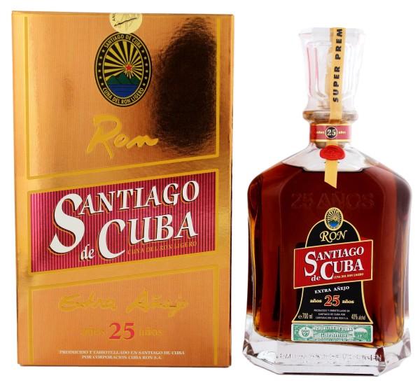 Santiago de Cuba Rum Extra Anejo, 25 Jahre 0,7 L, 40%