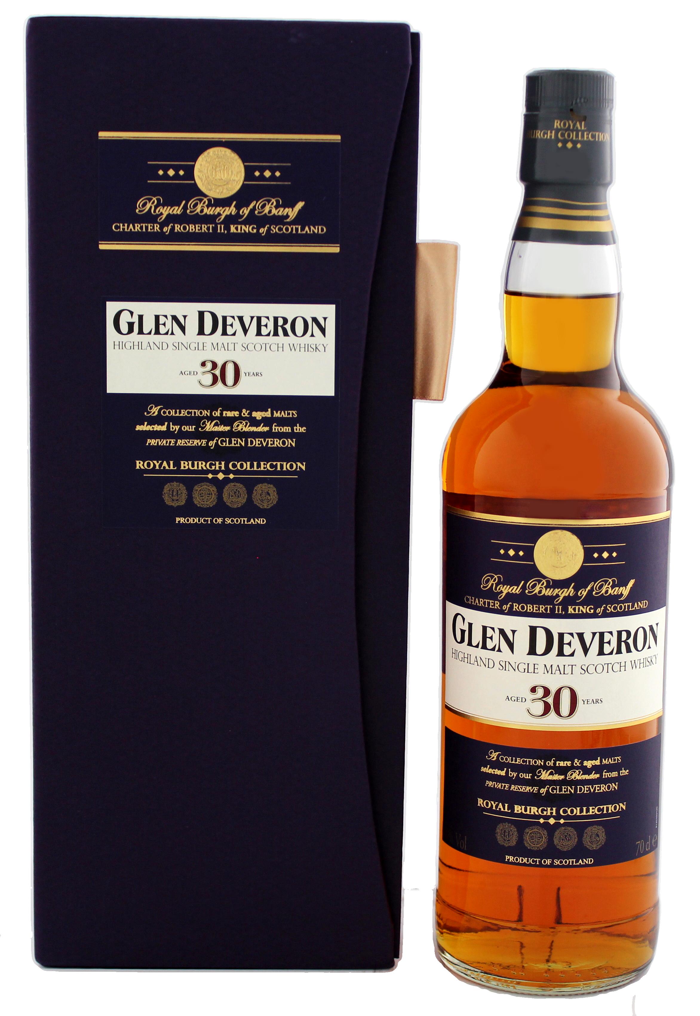 glen deveron malt whisky 30 jahre jetzt kaufen whisky online shop. Black Bedroom Furniture Sets. Home Design Ideas