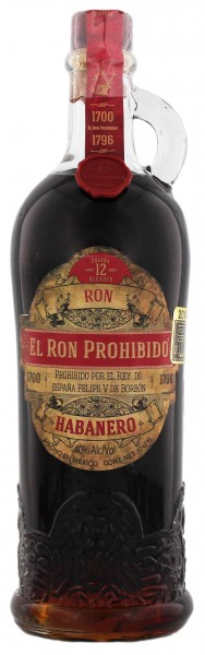 El Ron Prohibido Rum 12 Jahre
