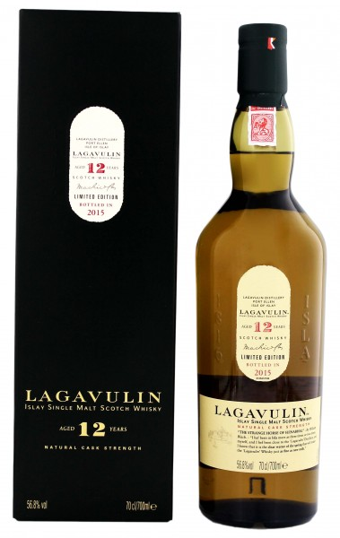 Lagavulin Single Malt Whisky 12 Jahre Cask Strength , 0,7 L, 56,8%