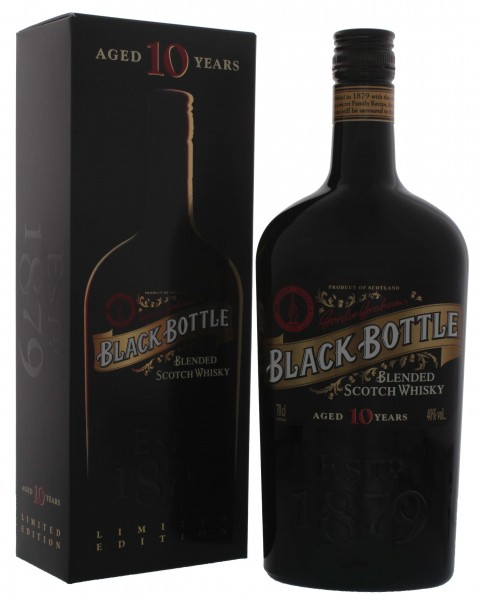 Black Bottle Blended Islay Scotch Whisky 10 Jahre, 0,7 L, 40%
