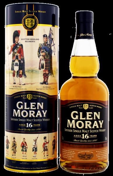 Glen Moray Single Malt Whisky 16 Years Old, 0,7 L, 40%